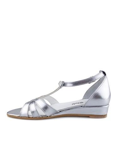 Cicibebe Rugan E Kız Çocuk Sandalet Gümüş